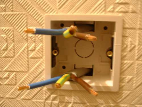 Install an electric shower electrics cables in backbox cheapraybanclubmaster