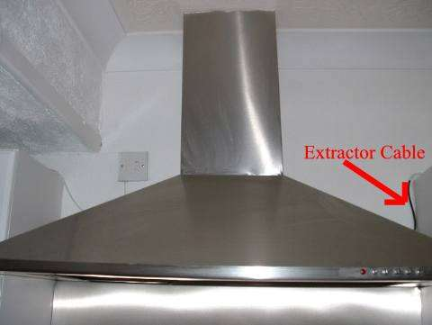 Fitting kitchen extractor fan