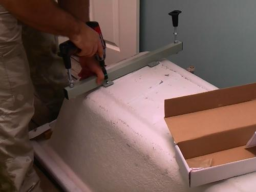 how to fix a bath panel without screws