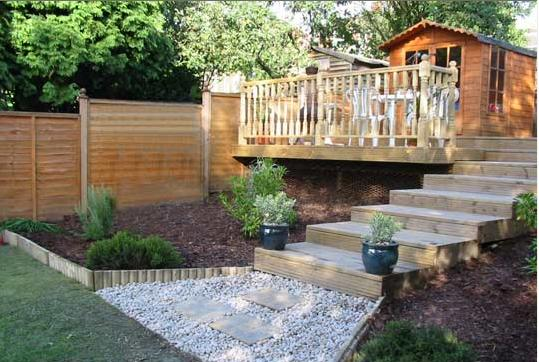 Decking examples decking for Garden decking examples