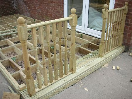Fitting Newel Posts Decking