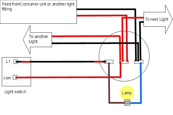 light wiring diagrams light fitting Light Switch Power Diagram
