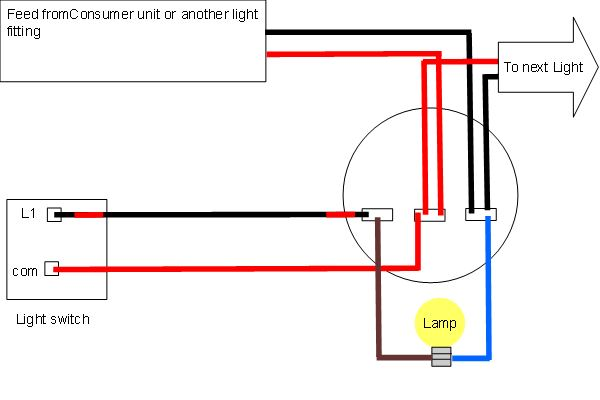 Diagram Of Wiring A Light Fitting : Light wiring diagrams fitting