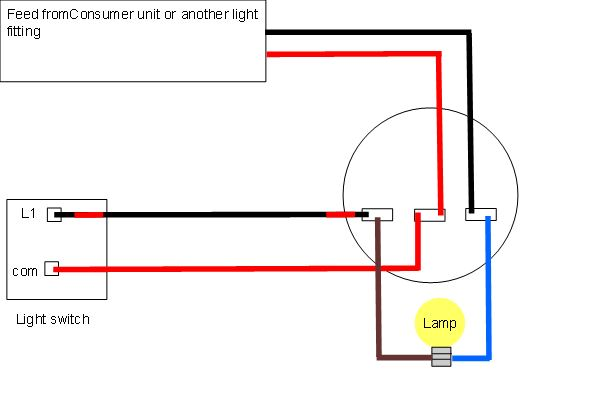 domestic light wiring  sc 1 st  Ultimate Handyman & Light wiring diagrams | Light fitting