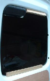 Perspex van window