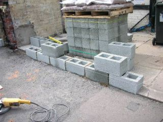 laying blocks