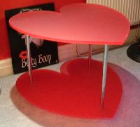 Heart shaped table made from Acrylic sheet