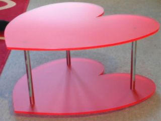 Perspex heart shaped table