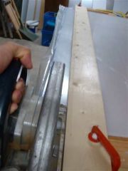 Perspex cutting using a circular saw