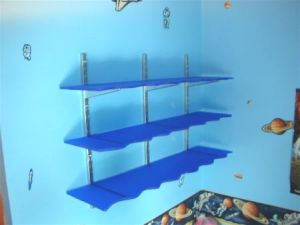 Acrylic bedroom shelving