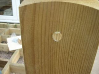 glue plug in newel post