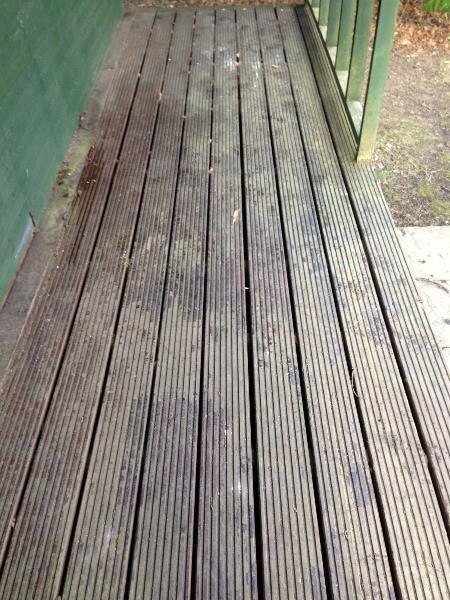 how to stain decking decking