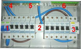 split load consumer unit wired