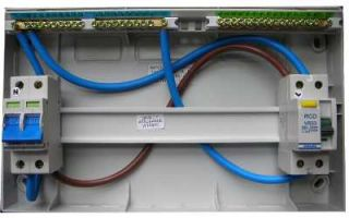 split load consumer unit bare