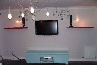 plasma tv on wall