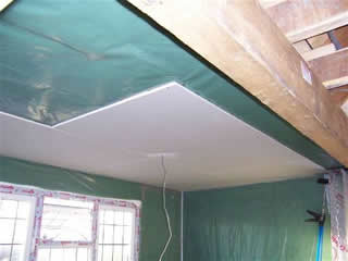 plasterboard over insulation