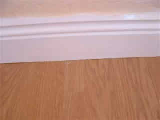skirting board over laminate