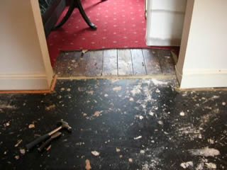 remove carpet and underlay