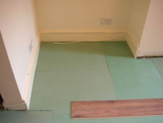 Laminate floor underlay laminate floor fitting for Laminate flooring underlay