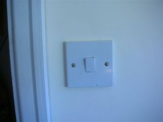 plastic light switch