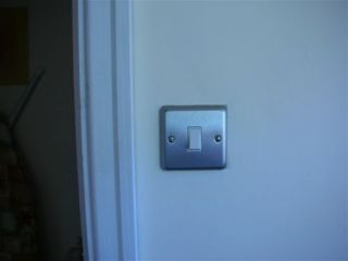 metal light switch
