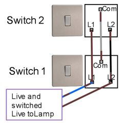 two way light switching diagram