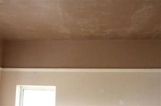 plastered ceiling