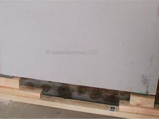 plasterboard on blocks