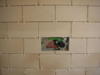 tiling around socket