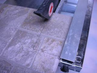 wet tile saw cut tile