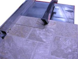 wet tile saw fence