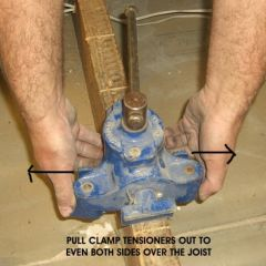 floorboard clamp on joist