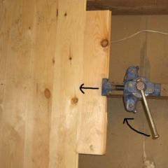 floorboard clamp in use