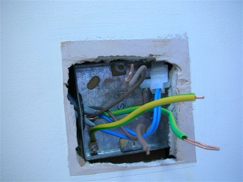 replacing a light switch light fitting rh ultimatehandyman co uk Wiring a Metal Garage Wiring a Metal Garage