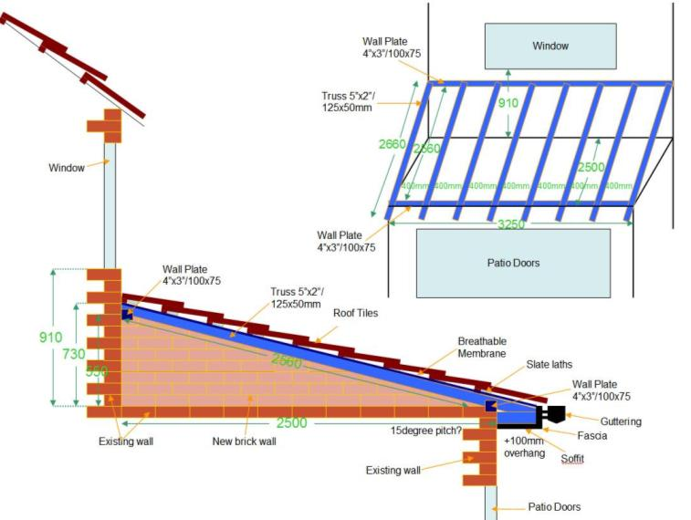 Build a pitch roof diy building all pages for Pitched roof design plans