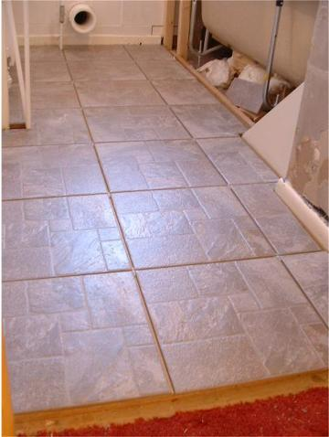 Tiling a Floor :  floor diy tiling floors
