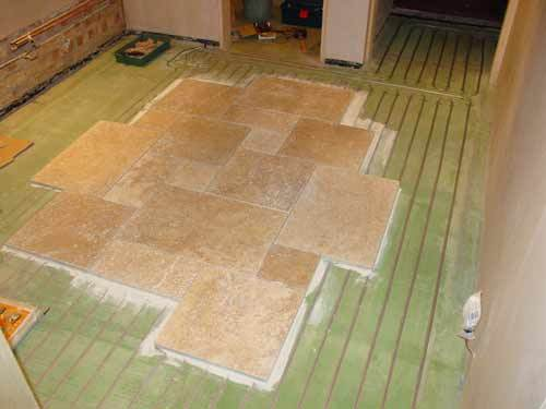 Plan Of How The Tiles Will Be Laid On Top Of The Under Floor Heating